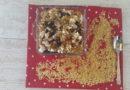 Pâtes  Kritharaki  (longue d'oiseaux)  aux champignons sauvages et feta