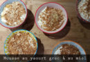 Mousse au yaourt grec et au miel de thym