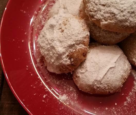 Kourabiedes – Sablés/Biscuits grecs aux amandes