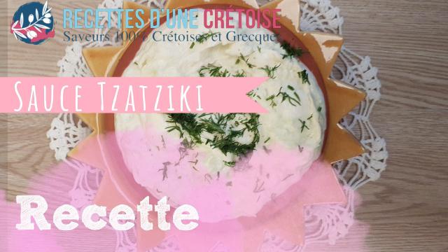 Sauce Tzatziki en vidéo YOUTUBE