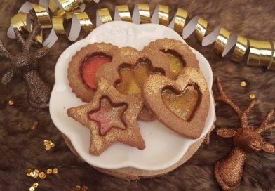 Biscuits à la caroube vitrés