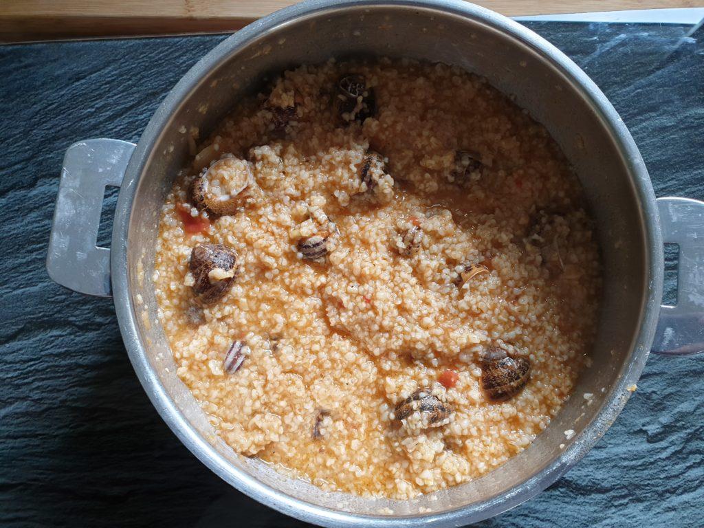blé aux escargots