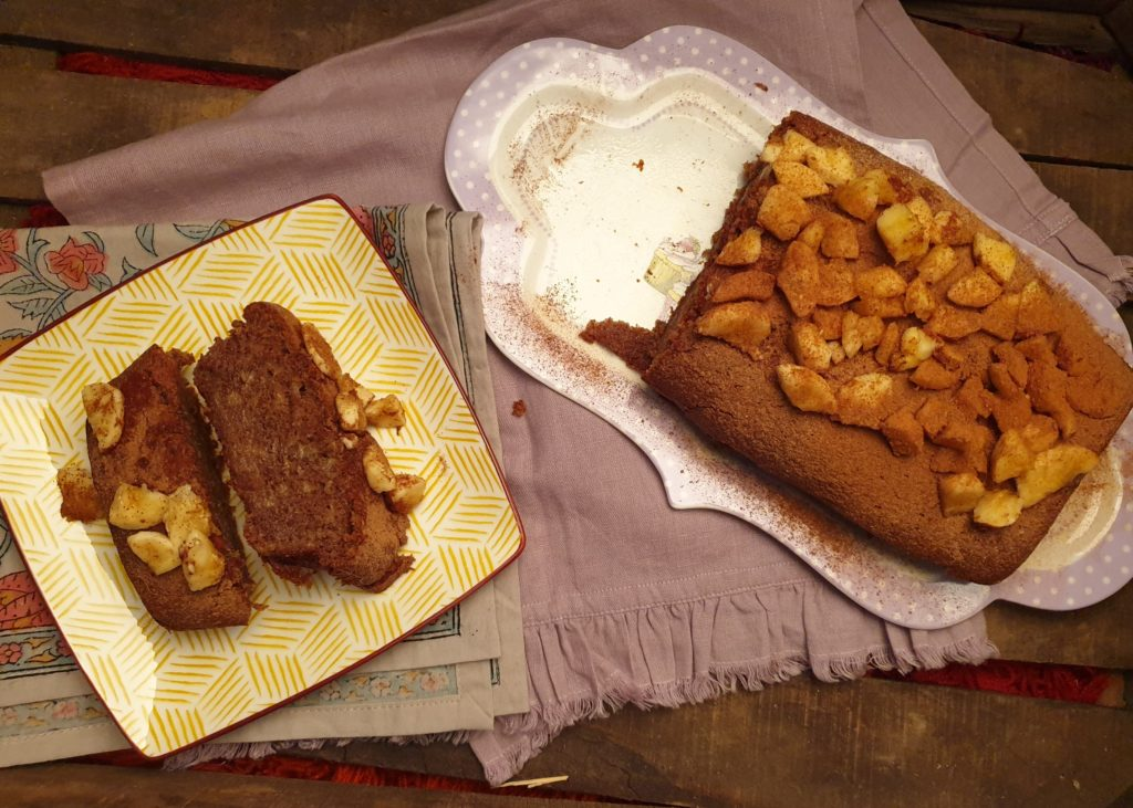 cake à la caroube et banane