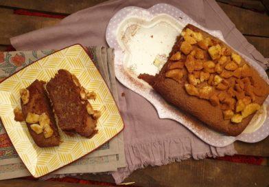 Cake à la banane et à la caroube