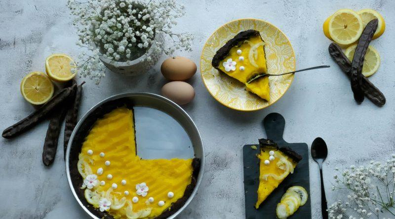 recette de tarte à la caroube et citron