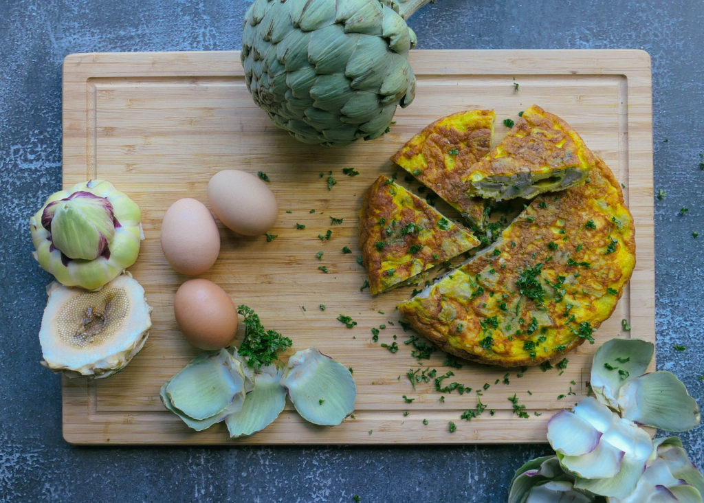 omelette grecque aux artichauts