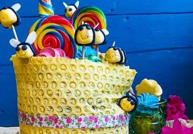 Layer cake à la caroube et au miel