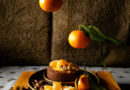 tarte avec farine de caroube et mandarine