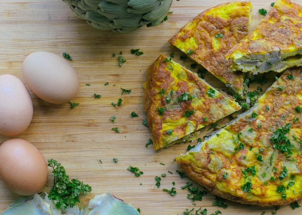 recette grecque - Omelette aux artichauts