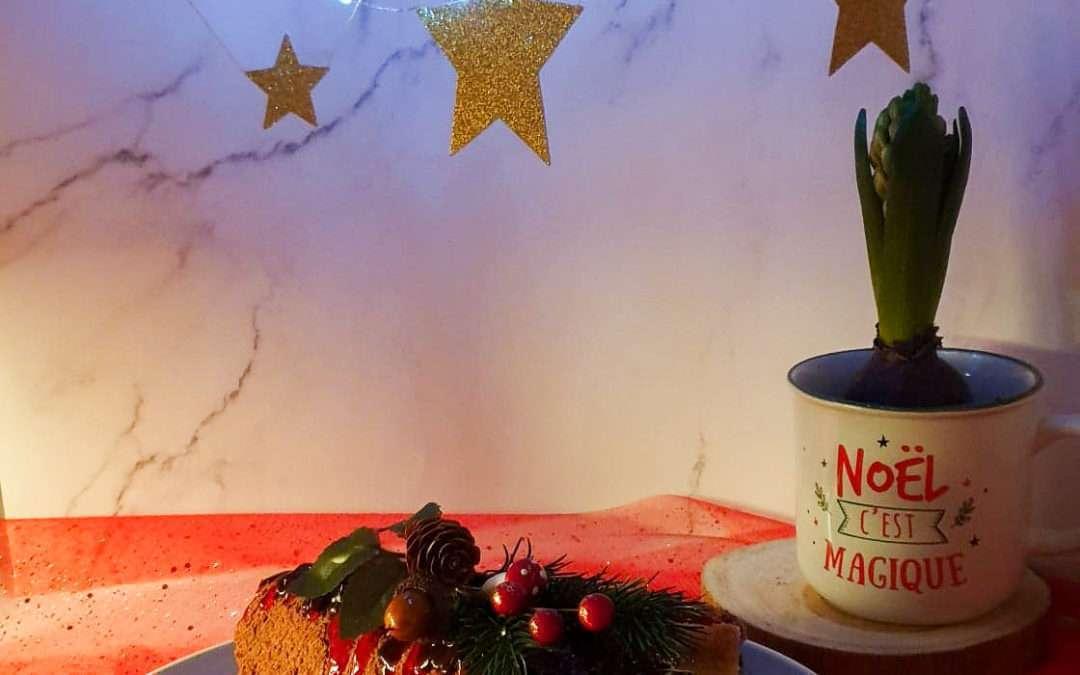 Bûche de Noël rapide aromatisée à la mastic de Chios