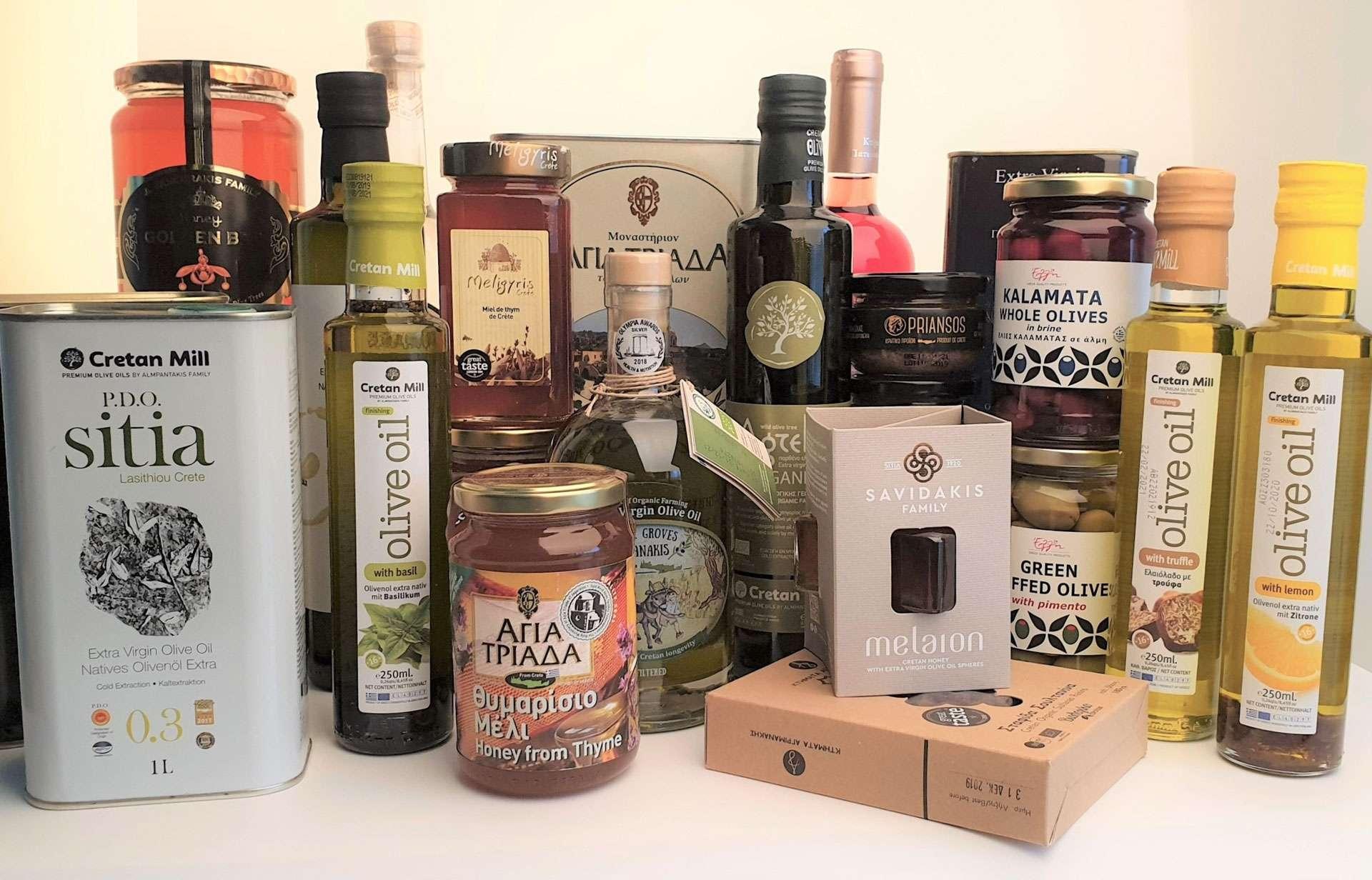 produits de crete et de grece