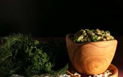 Salade aux légumes secs « palikaria » ou ospriada