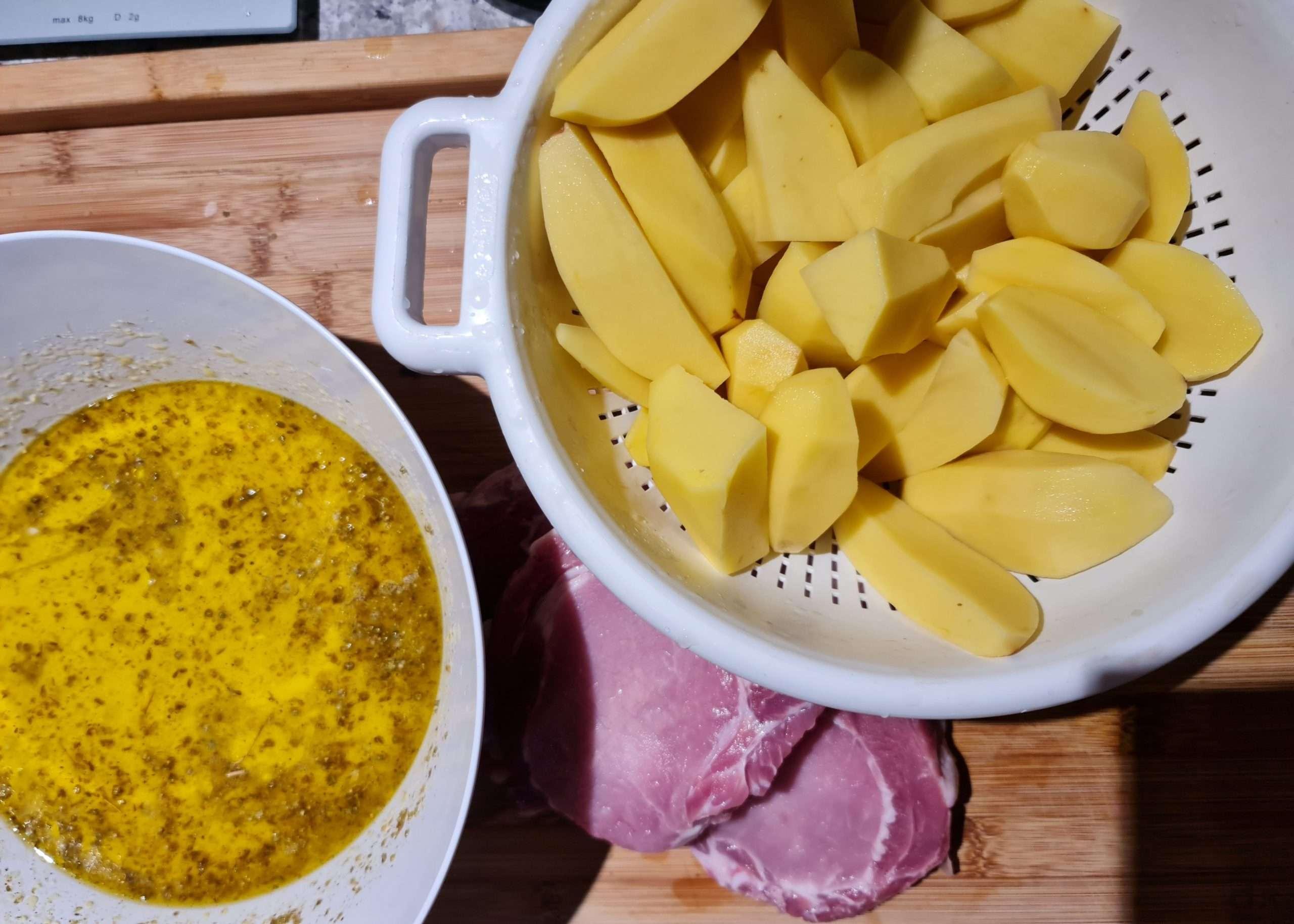preparation des côtes de porc pourune preparation au four
